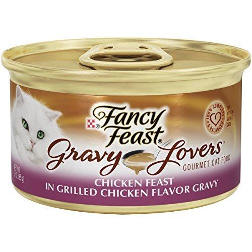 enlatado,purina festín fiesta de pollo en salsa de pollo..