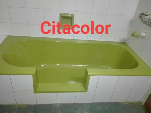 enlozado de bañera y corte de bañera