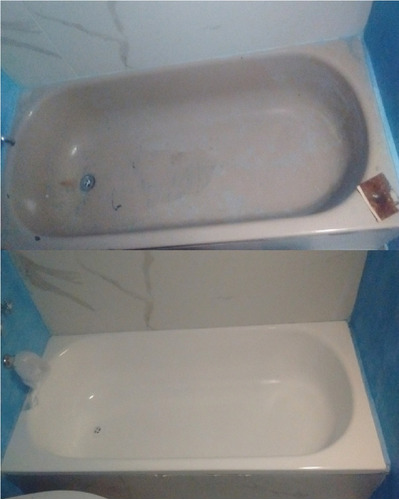 enlozado de bañeras