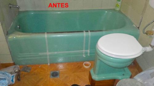 enlozado de bañeras hidromasaje bachas azulejos plastificado