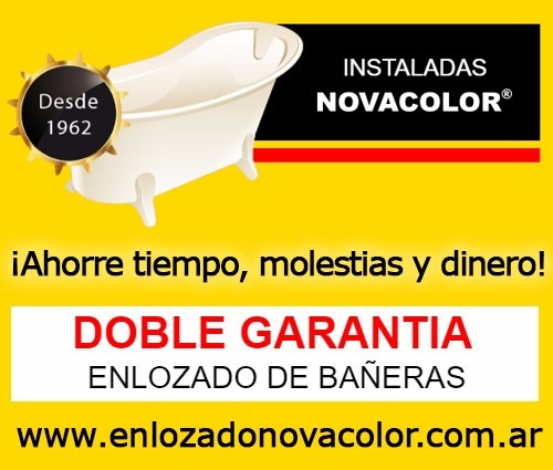 enlozado de bañeras instaladas novacolor - desde 1962
