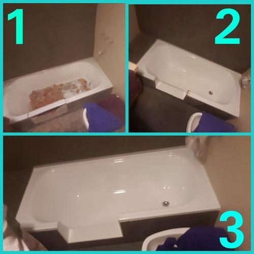 enlozado de bañeras y corte de bañera