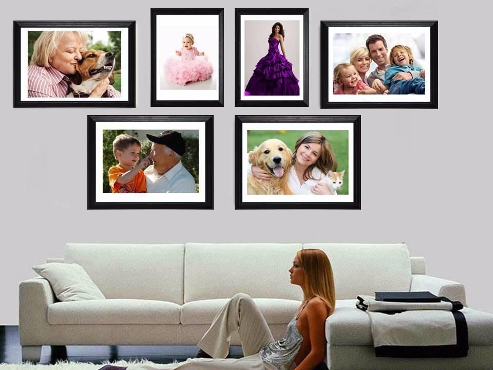 Enmarcado De Fotos Familiares! Marco Madera+vidrio+foto Deco - $ 549 ...