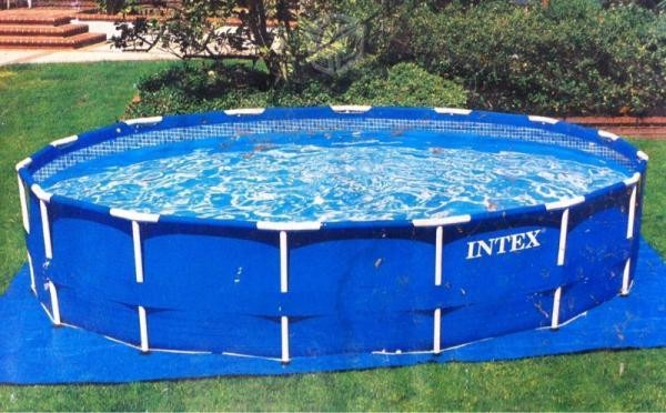 Enorme alberca intex piscina armable mas 3 metros con for Piscina hinchable cuadrada