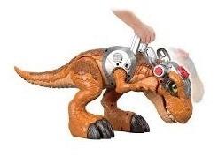 enorme dinosaurio t-rex imaginext jurassic park para niños