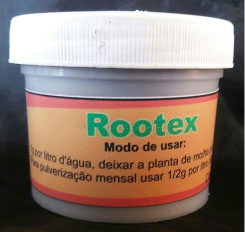 enraizador rootex fracionado embalgem com 3 unid. de 50g