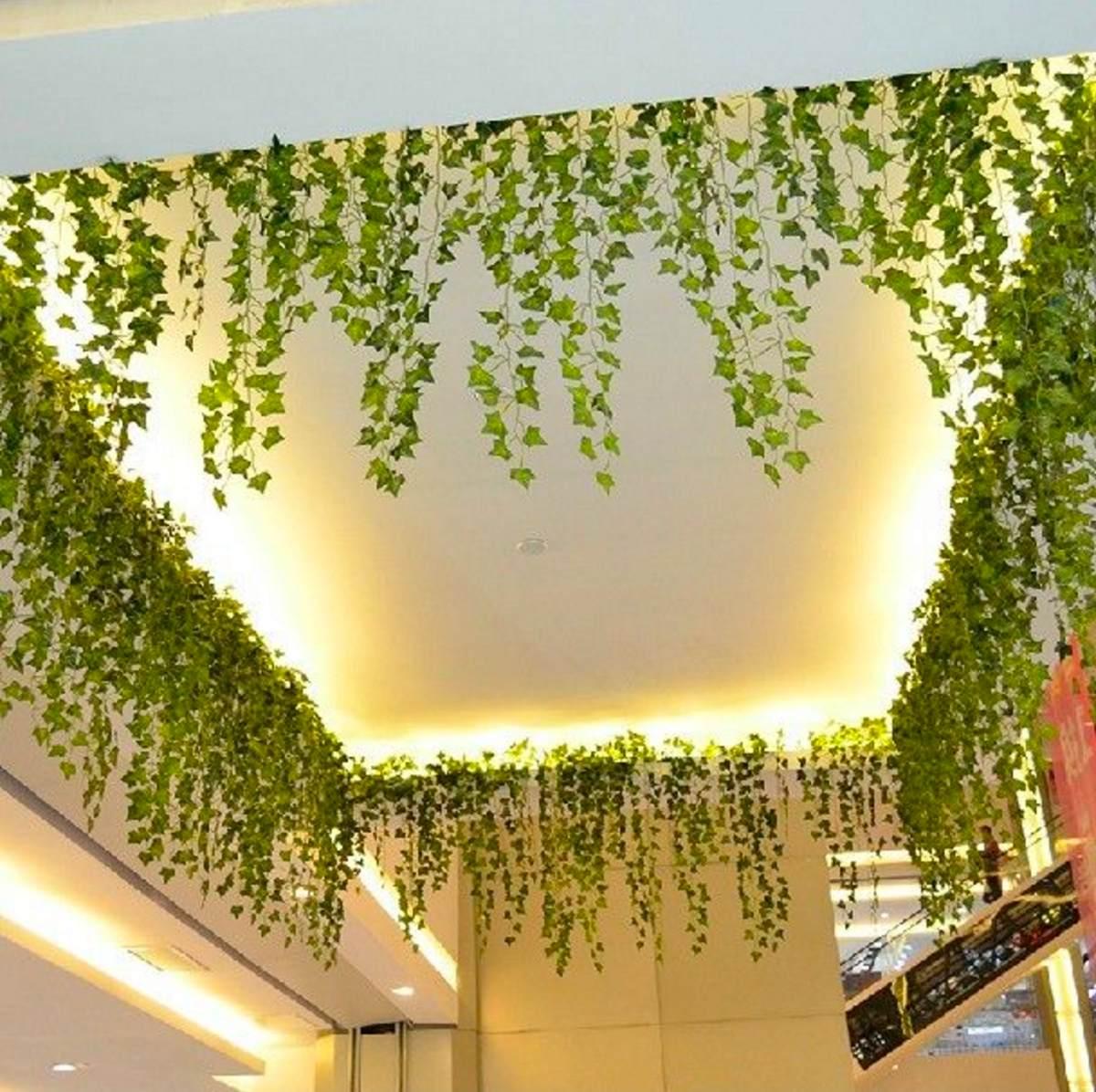 Enredadera artificial con hojas para decorar en - Enredaderas de interior ...