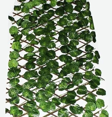 enredadera hiedra artificial 2,20mts jardin vertical x 12 unidades, mania-electronics