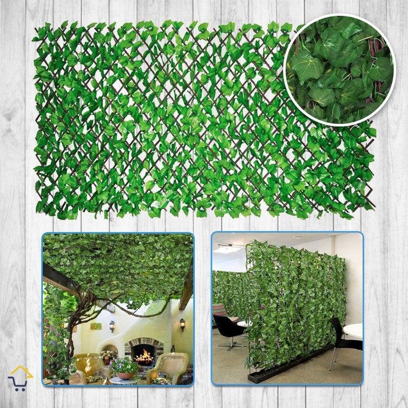 Enredadera malla artificial follaje expandible jard n 01 for Follaje para jardin