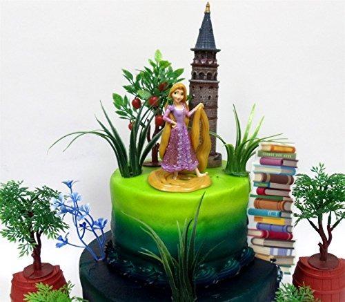 Enredado Princess Rapunzel Birthday Cake Topper Con La Figur