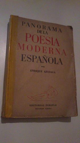 enrique azcoaga panorama de la poesía moderna española