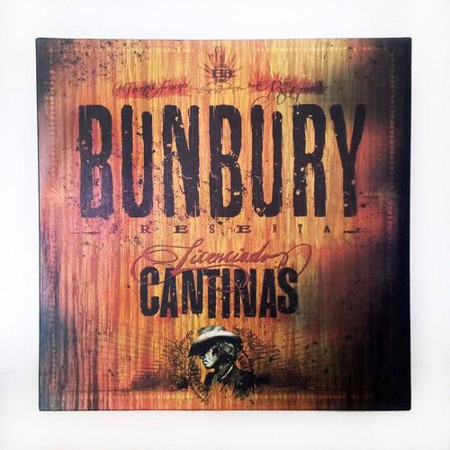 enrique bunbury , licenciado cantinas , 2 vinyl lp + cd disc