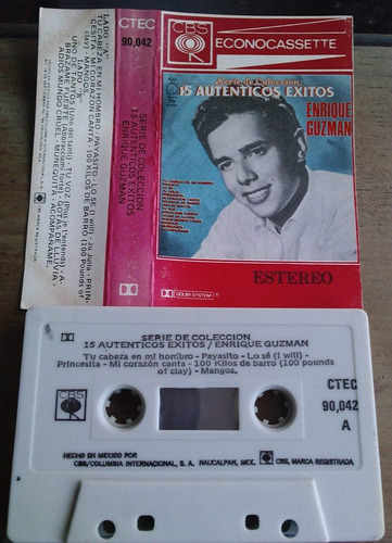 enrique guzman 15 autenicos exitos cassette rarisimo 1983
