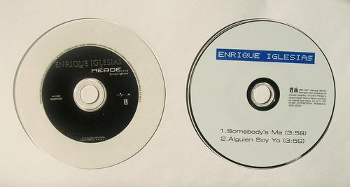 enrique iglesias heroe + alguien soy yo 2 cd's singles 2x1