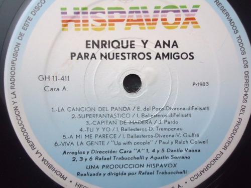 enrique y ana / para nuestros amigos vinyl lp acetato