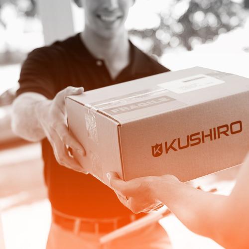 enrollador de manguera kushiro emk2 + pistola de riego