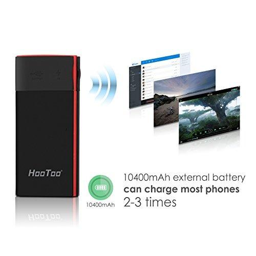 enrutador de viaje inalámbrico hootoo, batería externa 10400