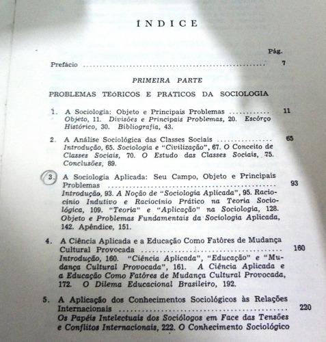 ensaio de sociologia geral e aplicada - florestan fernandes