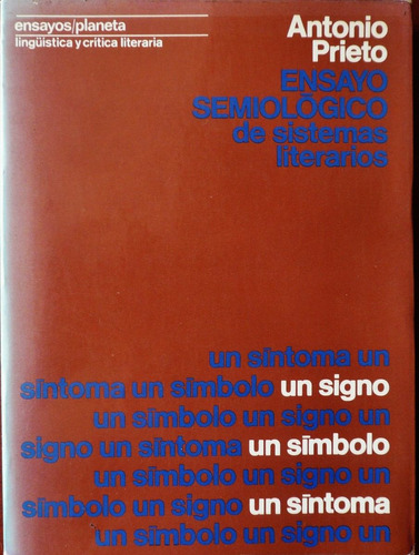 ensayo semiológico de sistemas literarios antonio prieto