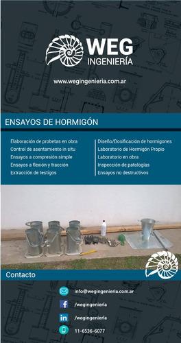 ensayos de hormigón - weg ingeniería