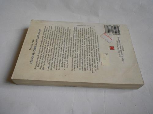 ensayos sobre la vida humana, nagel, filosofía, libro usado