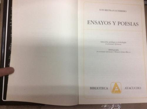 ensayos y poesías- luis beltrán guerrero - ensayos y poesías