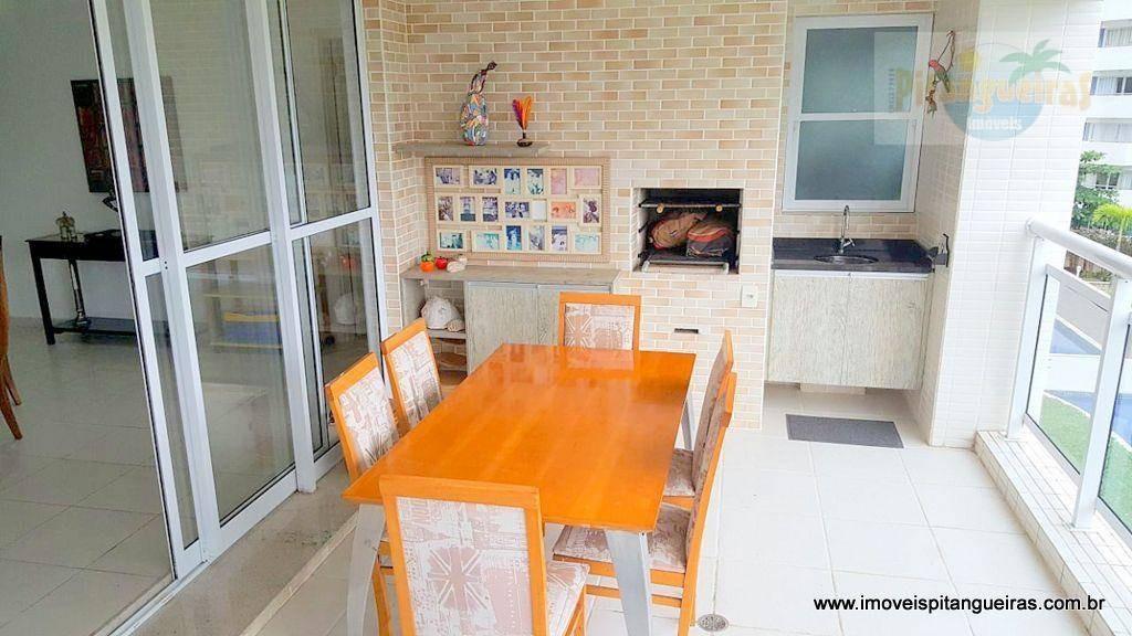 enseada - ótima localização - varanda gourmet - 02 vagas de garagem. - ap4326