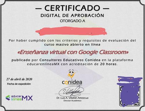 enseñanza virtual con google classroom