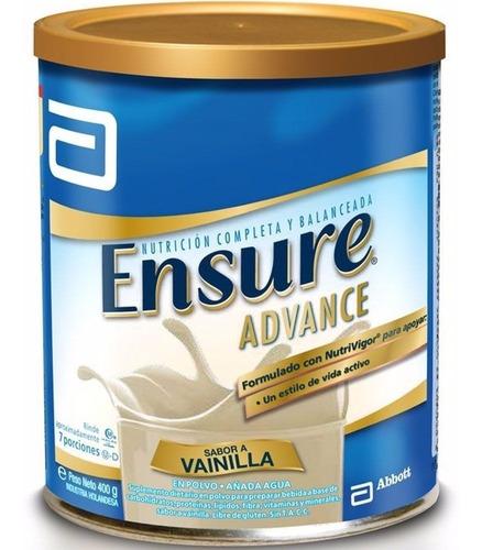 ensure advance polvo vainilla lata 400 grs multivitaminico