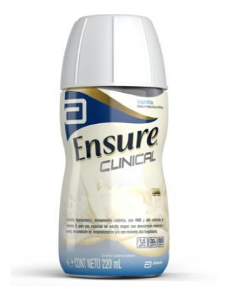 ensure clinical frasco con 220 ml  sabor vainilla