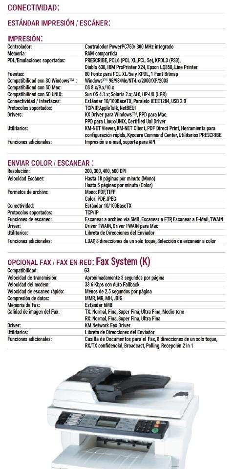 ¡ent  Inmediata! Copiadora Kyocera Km-1820la - $ 4,499 00