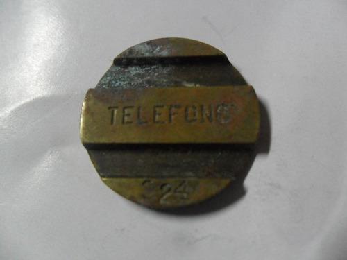 entel cospel ficha telefonica bronce telefono nº 324