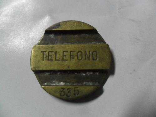 entel cospel ficha telefonica bronce telefono nº 335
