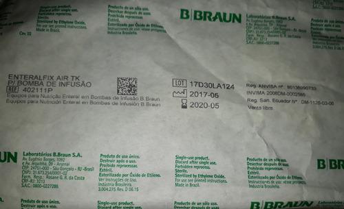 enteralfix air tk bomba infusión bbraun nutrición enteral