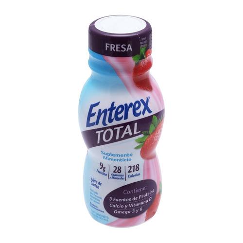 enterex total fresa caja x 16  botella 237 ml