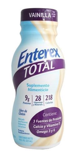 enterex total vainilla caja x 16  botella 237 ml
