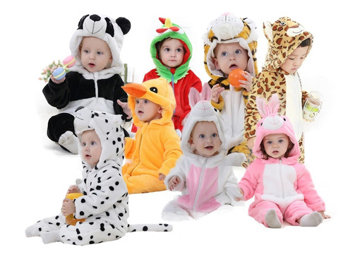 enterito abrigado bebe niño mameluco astronauta animales mli
