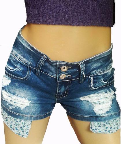 enterito mono short de jean  elastizado pechera desmontable