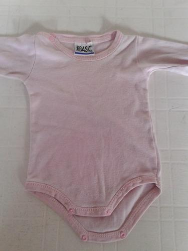 enterito osito bebe rosa basic talle 9 meses