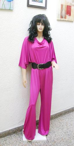 enterito pantalon palazzo mono vestido de modal  xl al xxxxl