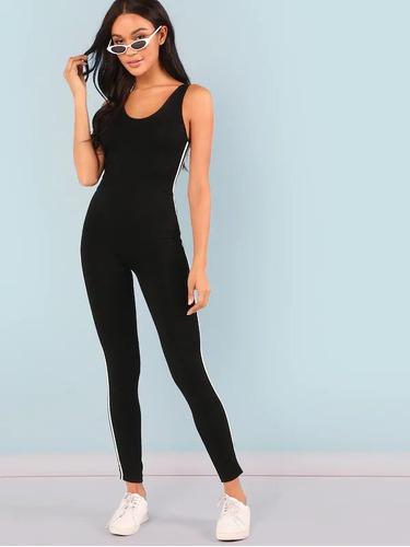 enterizo deportivo jumpsuit negro fra blusas dama ropa mujer