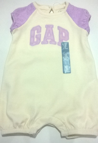 enterizo short gap 6 a 9 meses niñas