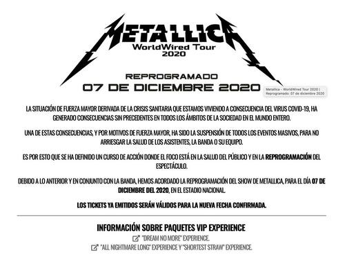entrada concierto de metallica vip 2:  all nightmare long