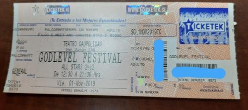 entrada godlevel festival