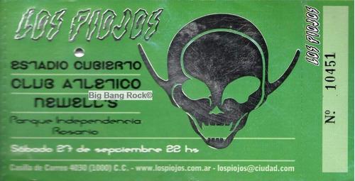 entrada los piojos boca juniors 2005 ( eshop big bang rock)