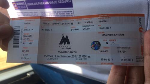 entrada para maluma hoy 01/09/17