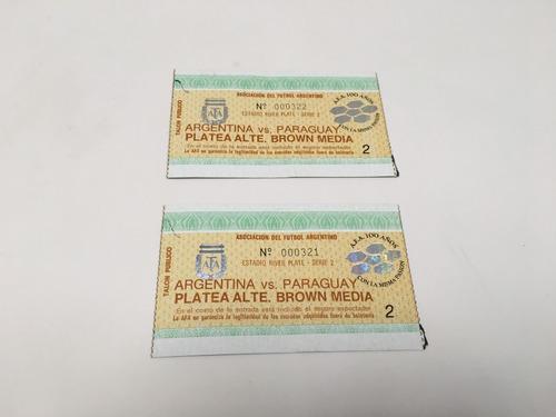 entrada partido argentina-paraguay eliminatorias 1993