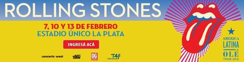entrada rolling stones 07/02/2016 platea preferencial