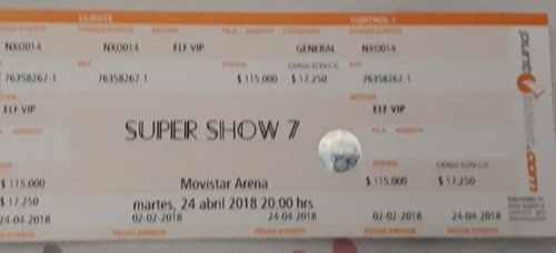 entrada super show 7 (elf vip) super junior