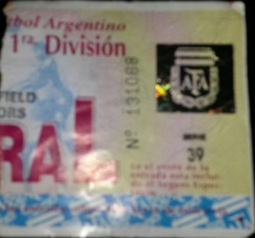 entrada velez 0 boca 0 torneo apertura 1997 maradona